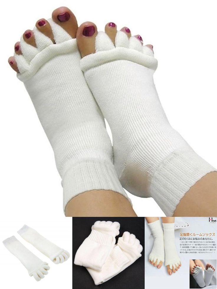 [Visit to Buy] 1 Pair Pedicure Sock GYM Massage SPA Yoga Five Toe Separator Socks Foot Alignment Socks For Pain Relief Bunions Flip Flop Sock #Advertisement