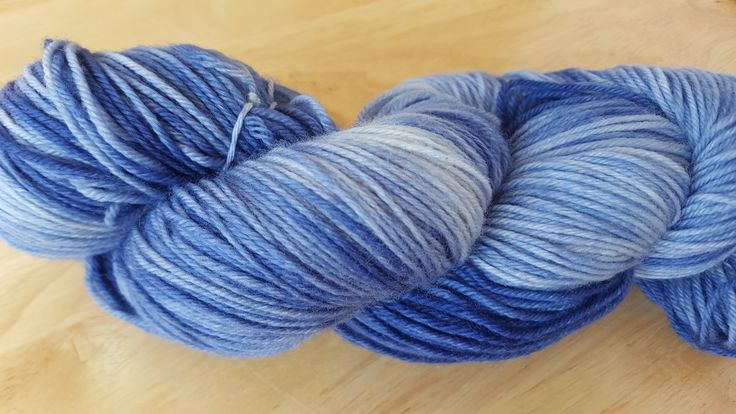 "Hand Dyed Sock Yarn Superwash Merino Wool Fingering Weight in ""Glacial"" Colourway $29"