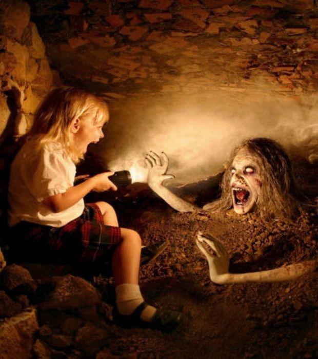 La peur de tomber sur un monstre dans une grotte