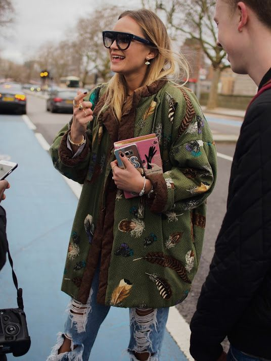 Street Muses...Autumn/Winter 2016...LFW...London, Nina Suess
