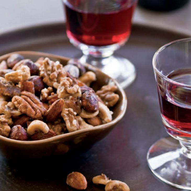 Maple Bacon Spiced Nuts