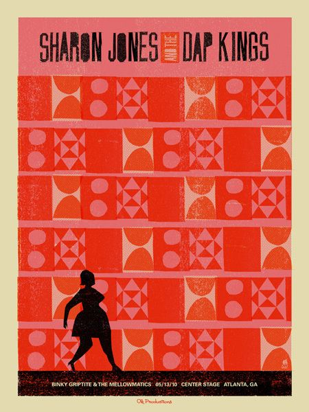 Sharon Jones & The Dap Kings concert poster artwork. #gigposters #musicart #music http://www.pinterest.com/TheHitman14/music-poster-art-%2B/