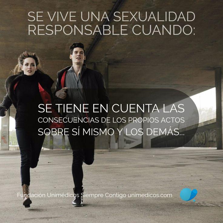 Se #vive una #sexualidad #responsable cuando: Se tiene en cuenta las consecuencias de los propios actos sobre sí mismo y los demás #FundaciónUnimédicos #EMASiempreContigo