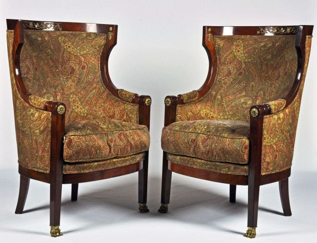 A Pair of Period French Empire Barrel Back Bergeres presented by DAFA in Fort  Lauderdale. 124 best Antique Furniture images on Pinterest   Antique furniture