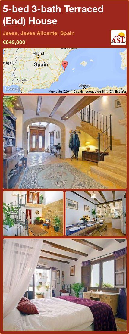 5-bed 3-bath Terraced (End) House in Javea, Javea   Alicante, Spain ►€649,000 #PropertyForSaleInSpain