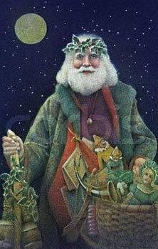 vintage Santa artwork.