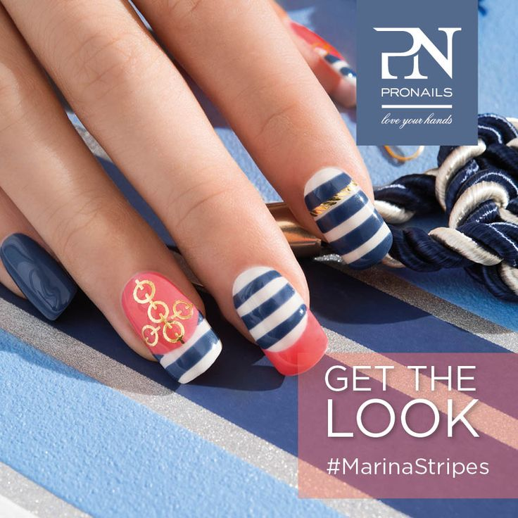 Voglia d'estate. ☀ Il nostro look... Marina Stripes!  #getthelook #marinastripes #coastalcollection #PronailsItalia #Pronails