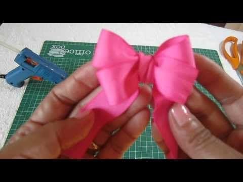 Como hacer lazos perfectos muy fácil. Perfect bow, easy. - YouTube