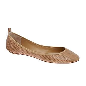 You'll get a lot of wear out of cute ballet flats. The nude colour makes these versatile, while the snakeskin print makes them more interesting.  Choose the toe shape based on your body line (ie round, straight, soft straight etc).    You can wear them on casual days at work and they look great with jeans or a summer dress.