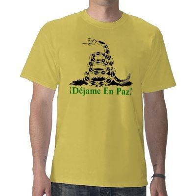 Camiseta Serpiente Gadsden - Déjame En Paz M1 por LaMareaNaranja 17€