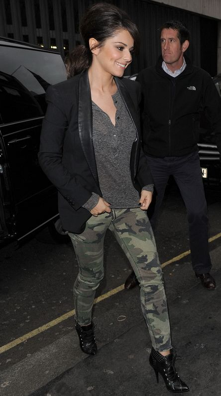 TEXTILE Elizabeth and James Camo Cooper Jean in Olive Camo - as seen on Cheryl Cole