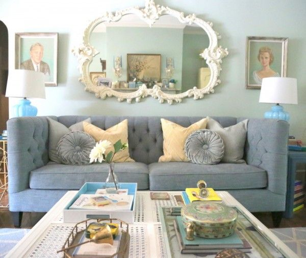 Eclectic House Tour   The Decorologist. Mirror Above CouchIndustrial Living  ...