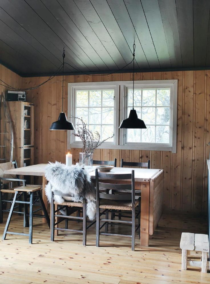 Gravity Interior : Norwegian cottage via ELLE Decorations