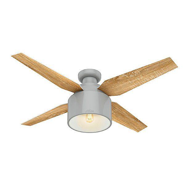 Cranbrook Low Profile Ceiling Fan In 2020 Ceiling Fan Hunter