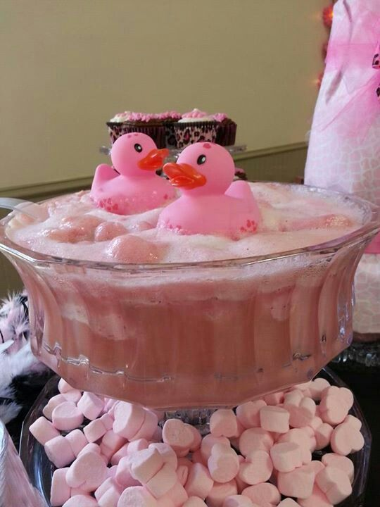 duck punch for baby shower | Every thing pink baby shower ducky punch