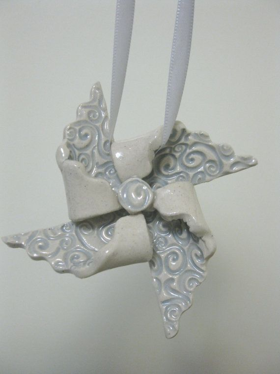 Handcrafted Pin Wheel Ornament Ready To Ship by LisaDPottery, $12.00 @Melanie Bauer Bauer Bauer Bauer