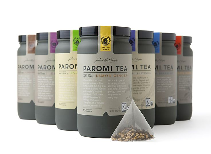 """Paromi Artisan Tea Company came to R/West looking for a complete brand overhaul. Their product was premium and unique, but lacked shelf presence and storytelling. Through new packaging, including a custom glass bottle, we painted the picture of Paromi's worldwide search for unmatched ingredients. The brand revival made an immediate impact as Whole Foods picked up Paromi across most of the continental United States."""