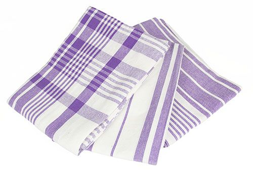 Patterned Purple Tea Towels Set
