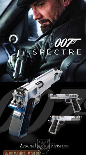 SPECTRE NEWS – BOND VILLAIN ARSENAL FIREARMS OFFICIALLY RELEASED Jimmy Wilson | May 6, 2015 | James Bond SPECTRE Update and News | No Comments The guns of new of upcoming highly anticipated movie SPECTRE has been announced c