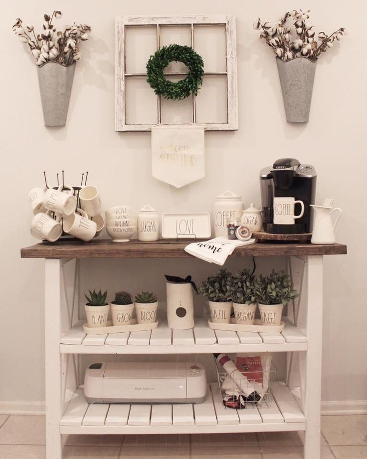 how to set up a coffee bar in your kitchen