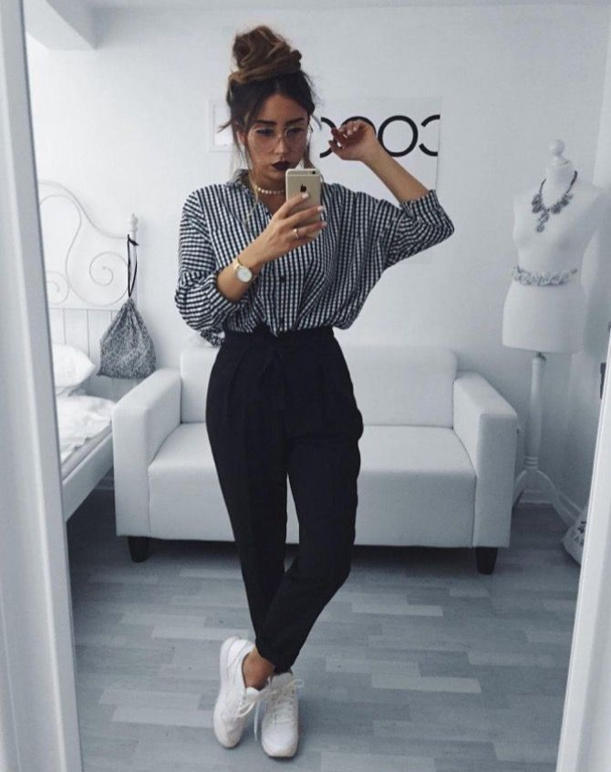 high waisted trousers + billowy shirt @dcbarroso