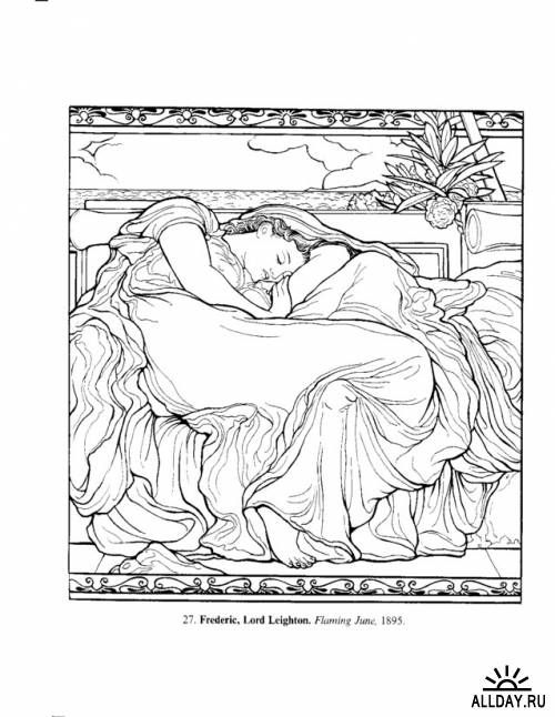 Delightful Art Masterpieces To Color: 60 Great Paintings From Botticelli To Picasso  (Dover Colouring Books