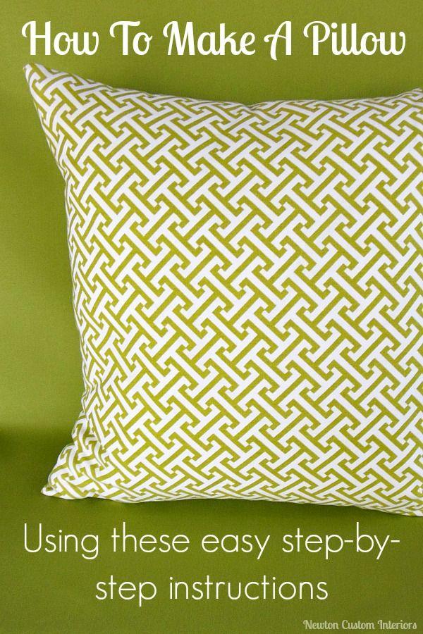 How To Make A Pillow from NewtonCustomInteriors.com #sewingtutorials #pillows #decorativepillows