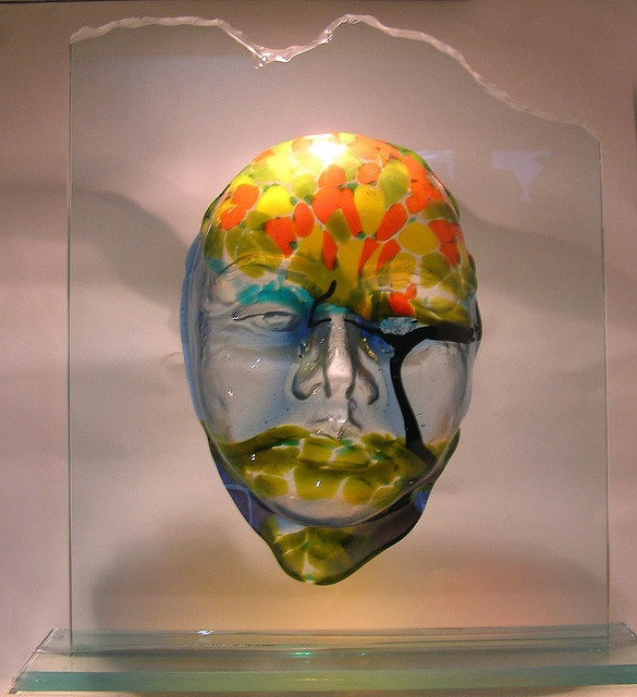 face in fusing glass by vito3pe, via Flickr