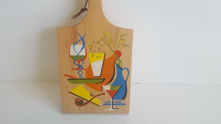 Wood Bread Cheese Cutting Board ~ Made in Yugoslavia
