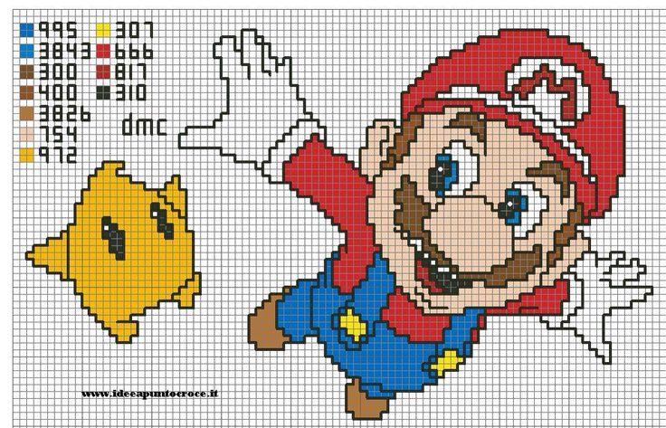 Mario bros cross stitch