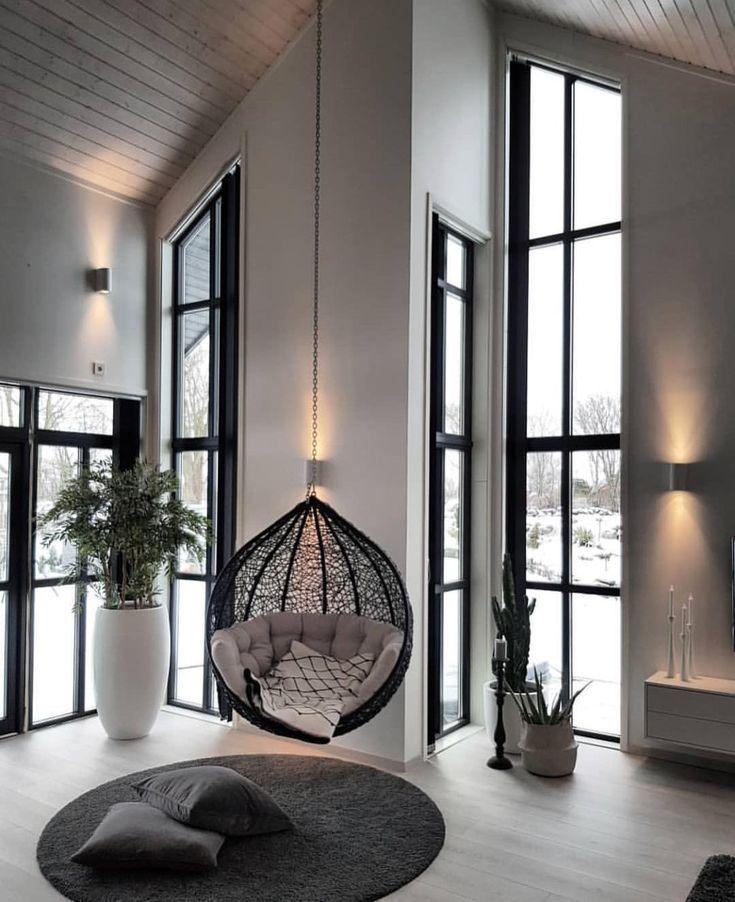 Apenas deixe sua mente vagar. | Relaxe na sala de estar   – Hängesessel ♡ Wohnklamotte
