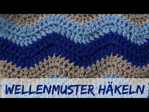 Wellenmuster häkeln | Häkelmuster #8 - YouTube