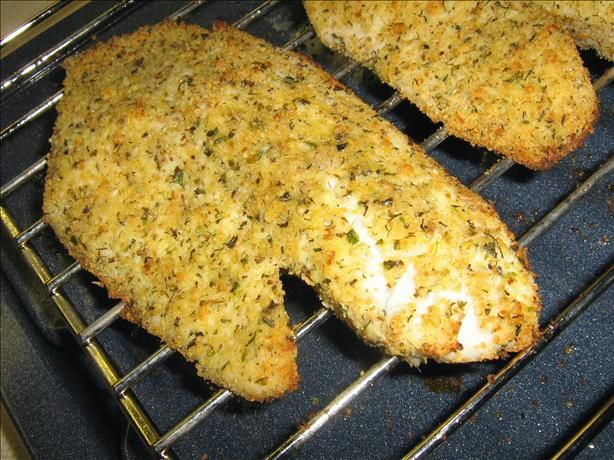 Had this Parmesan Crusted Tilapia tonight...huge success.  Really tasty.  Next time I am going to try adding dijon mustard to the lemon juice coating. Oh and the cooking time was a little long for my oven.  It took about 14 minutes to get to the correct temperature.