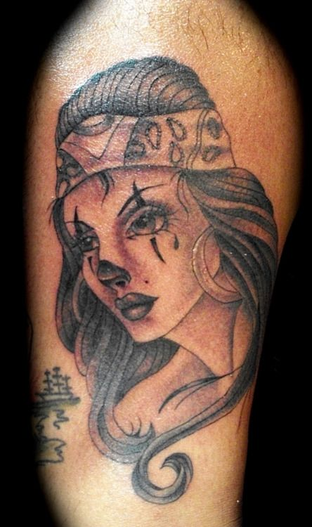 Girl Tattoo Designs  Chola Drawings  Gangster Tattoo Designs