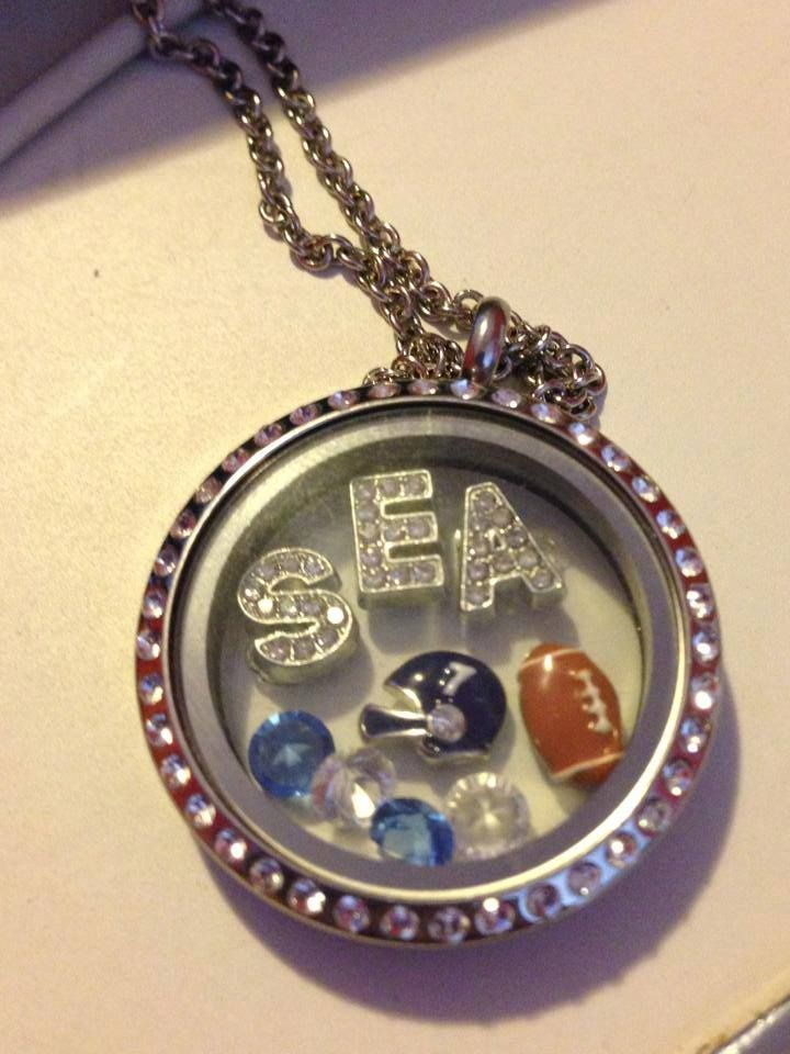 Support your favourite team in a locket from South Hill Designs.