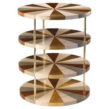 Check out this item at One Kings Lane! Poiroux 4-Tier Round Side Table, Multi