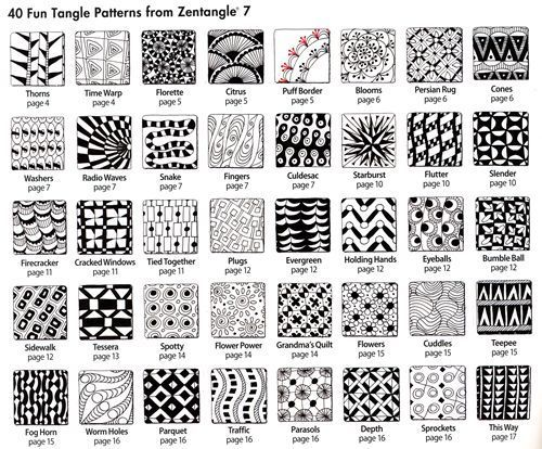 Legende  Zentangles - with small patterns to beautiful pictures