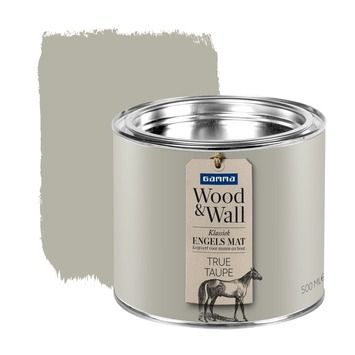 GAMMA Wood&Wall krijtverf True Taupe 500 ml - Engels Mat Klassiek