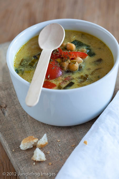 Thaise kikkererwten soep