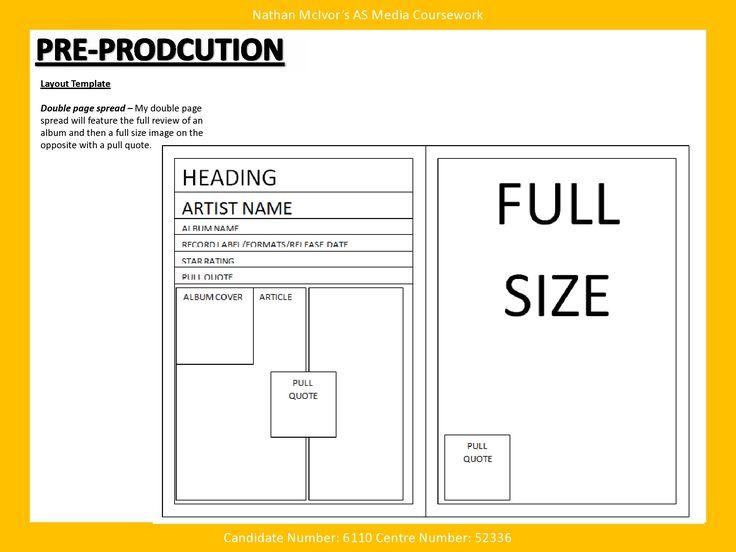 media  u2013 music magazine  u2013 pre production  u2013 layout template
