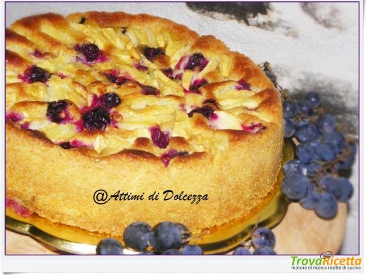 TORTA DI MELE E UVA FRAGOLA  #ricette #food #recipes