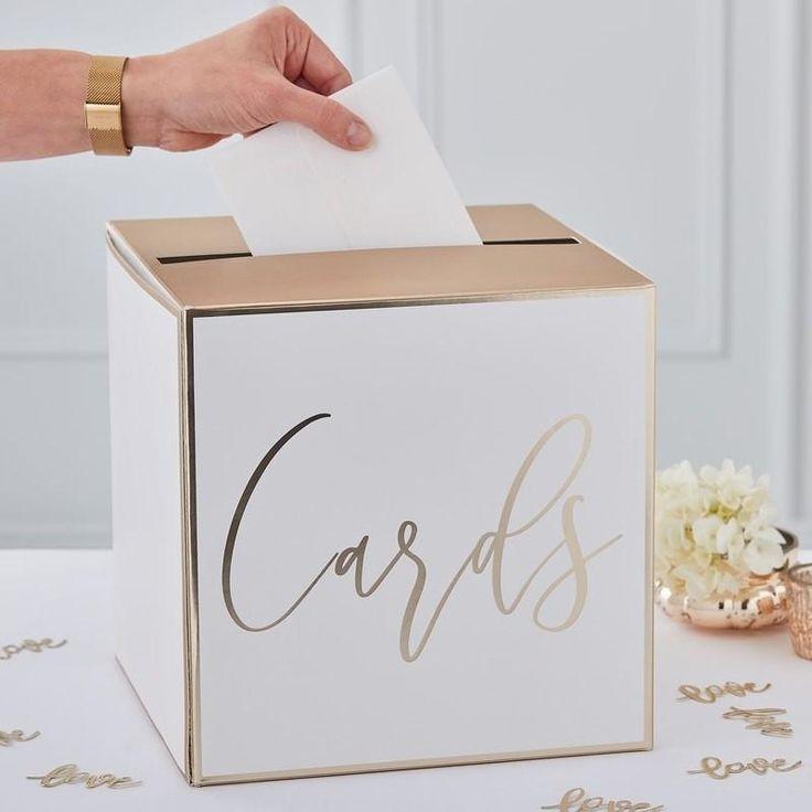 Gold Foil Wedding Cards Box