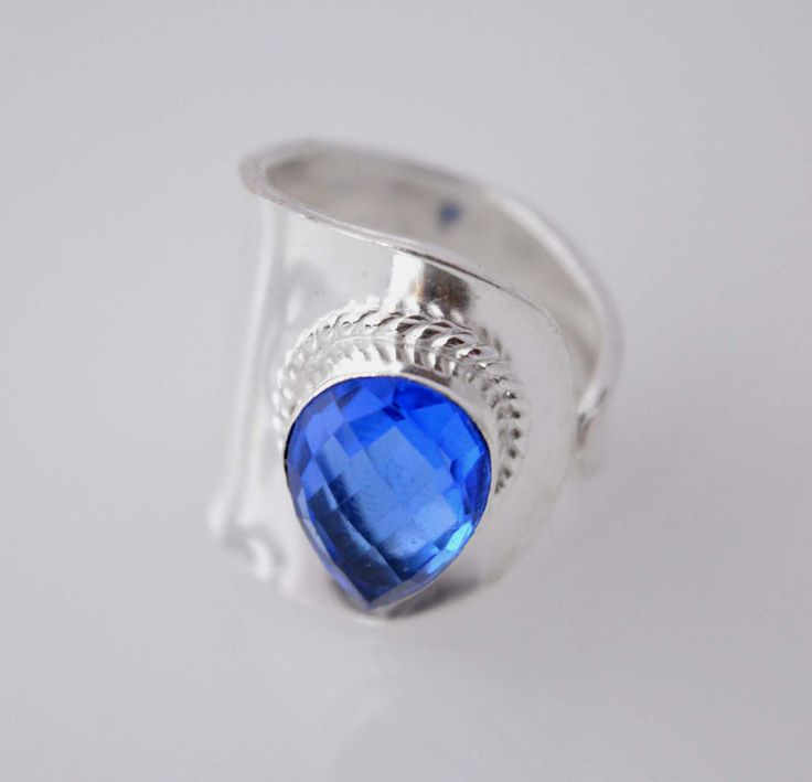 Awesome Genuine Quartz New Teens Fashion Jewelry Silver Plated Ring Size 9 E406 #HandMade #Cocktail