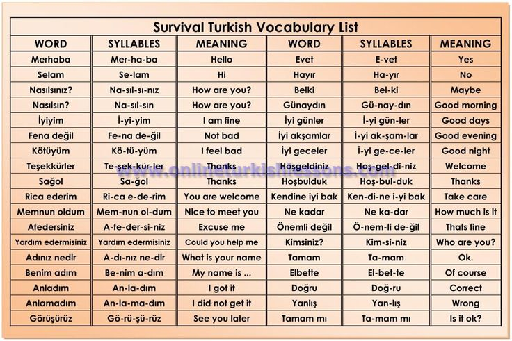 Basic Phrases in Turkish