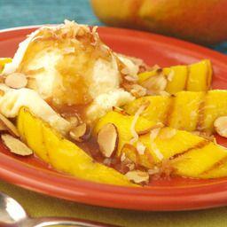 Grilled Mango with Spicy Rum Glaze and Vanilla Ice Cream - Price Chopper Recipe