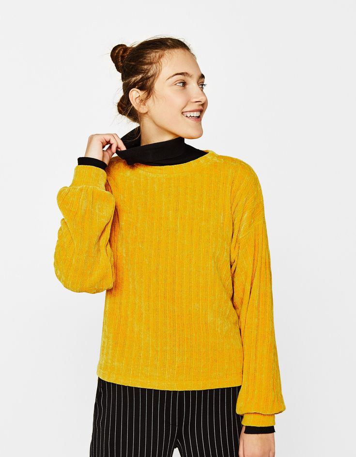 Stay warm and trendy this season with this @Bershka Chenille Sweater. Great casual wear 😍