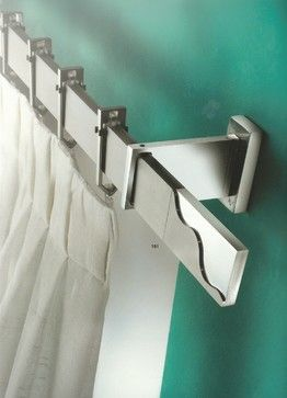 Window treatments, curtain poles and tie backs - contemporary - curtain poles - manchester UK - Art of Interiors