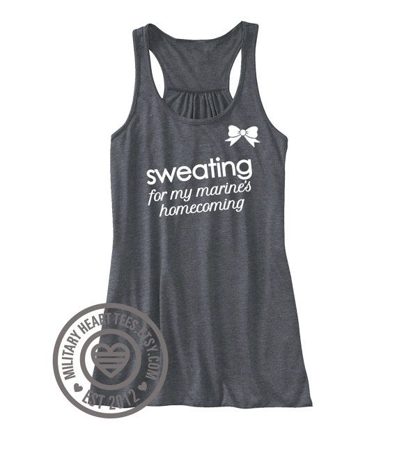Sweating for my marines homecoming marine by MilitaryHeartTees