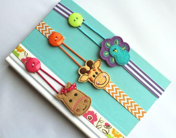 Pick ANY 3 Bookmarks Elastic Ribbon Bookmark Erin by BabyWhatKnots
