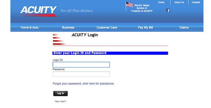 Acuity Login | Online insurance, Auto business, Login